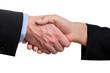 Business handshake, isolated