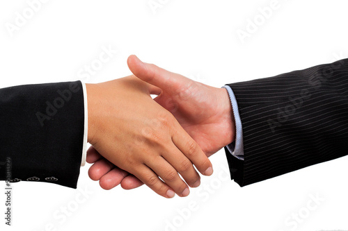 Traditional handshake