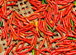 Red Chili peppers on basket