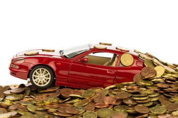 Auto versinkt in Kosten
