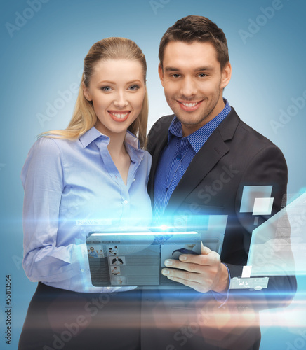 business team with tablet pc