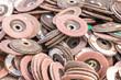 Old sanding discs