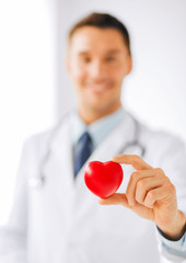 male doctor with heart