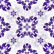 White seamless pattern with violet flowers