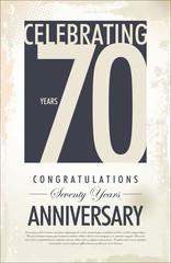 70 years anniversary background