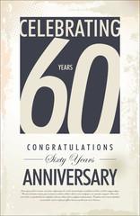 60 years anniversary background