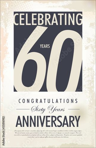 60 years anniversary background