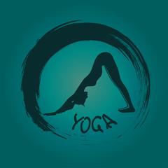 Yoga label with Zen symbol