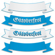 Oktoberfest banners, ribbons in bavarian colors