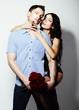 Affection. Bonding. Seductive Couple - Man and Woman Embracing