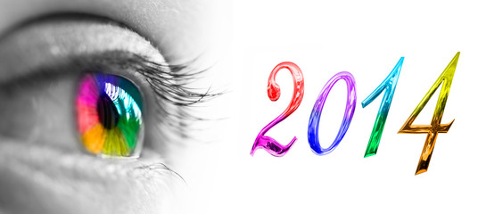 2014, œil arc en ciel