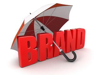 Brand under Umbrella (clipping path included)