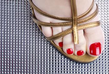 Vintage close up foot