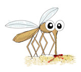 Mosquito, hand drawing vector