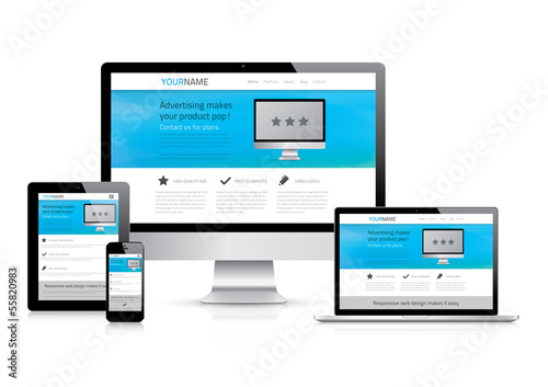 Fully responsive website design concept