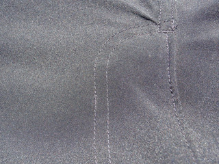 Dress Pants Covered Zipper Seem Stitching