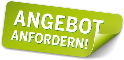 Label Angebot Grün