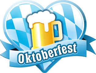Button Oktoberfest in Herzform