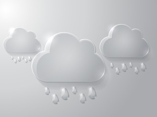 Vector illustration of glass clouds