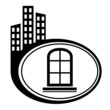 Window frame - vector city icon isolated