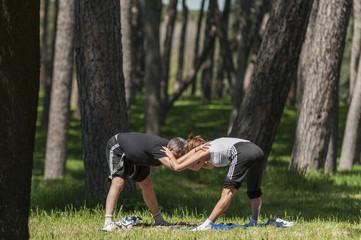 ginnastica in coppia