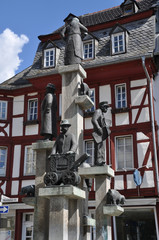 Brunnen am Kornmarkt in Bad Kreuznach