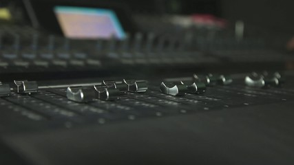 Sound mixers jumping buttons