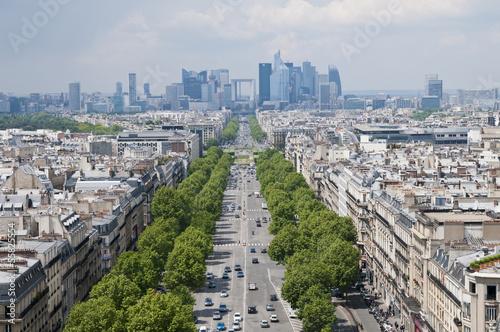 Blick vom Arc de Triomphe, Paris, Frankreich
