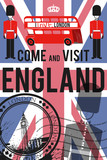 vector England travel invitation poster