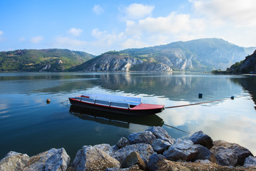 Djerdap National Park and the river Danube. Golubac.