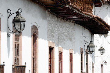 Colonial architecture in Patzcuaro (Mexico)