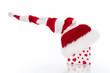 Weihnachten - Weihnachtsmütze isoliert mit Weihnachtsgeschenk