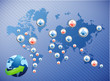 international social media network. illustration