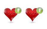 lifeline hearts illustration design poster