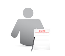 idea resume worker. illustration design