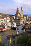 Zurich cityscape, Switzerland. Vertical image