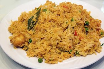East Indian Biryani Rice Dish Closeup
