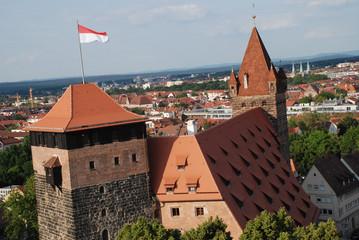 Nürnberg Jugendherberge Kaiserstallung Luginsland Fünfeckturm