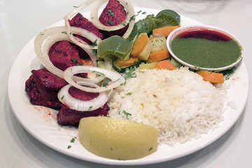 East Indian Lamb Kebab with Rice