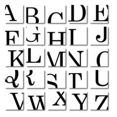 Set logos alphabet