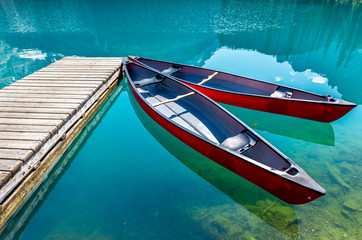 Boats on Lake O`Hara