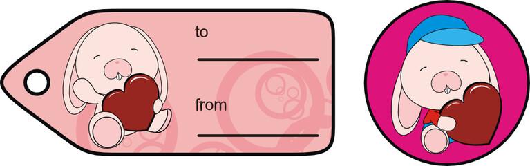 bunny baby love gift card sticker