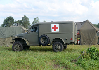 World War II era ambulance