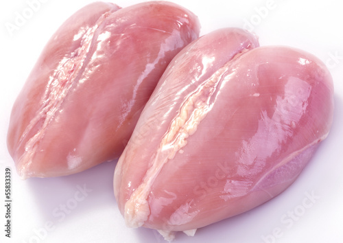 chicken breast isolated on white