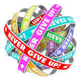 Never Give Up Endless Progress Determination poster