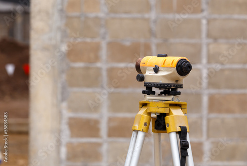 theodolite excavator for new factory construction