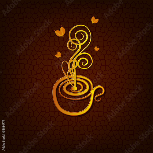 Figure teacup on a textured background