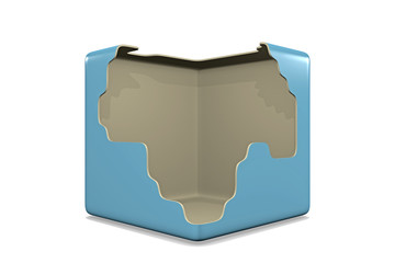 destroyed cube