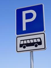 Busparkplätze - Bussymbol