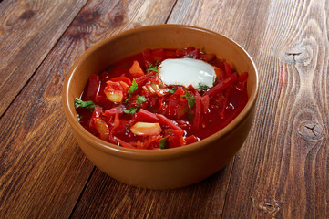 russian red-beet soup (borscht)